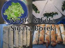 Photos of stages of Nettle & Feta Sigara Borek recipe