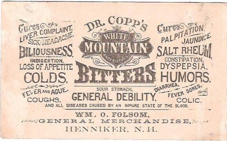 Advertisement for bitters. CC wikipedia.